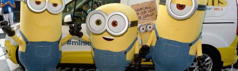 See Photos Of The 'Minions' Causing Mischief At The NASCAR Ford Championship In Miami On November 22, 2015 2
