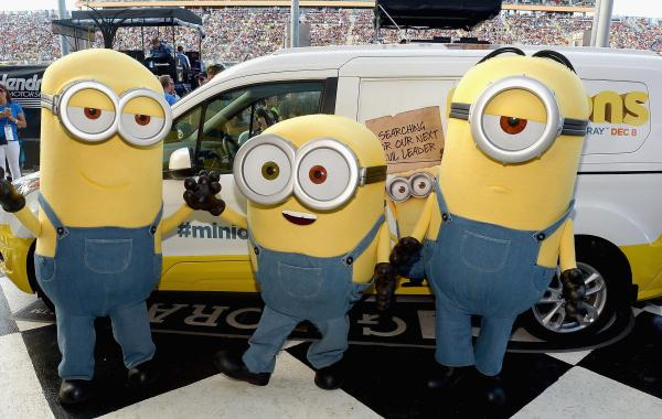 See Photos Of The 'Minions' Causing Mischief At The NASCAR Ford Championship In Miami On November 22, 2015 11