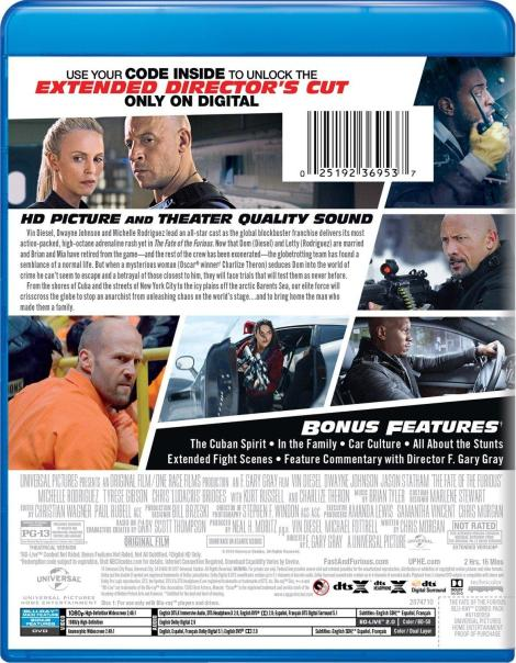'The Fate Of The Furious'; Arrives On Digital HD June 27 & On 4K Ultra HD, Blu-ray & DVD July 11, 2017 From Universal 18