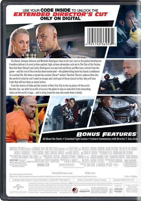 'The Fate Of The Furious'; Arrives On Digital HD June 27 & On 4K Ultra HD, Blu-ray & DVD July 11, 2017 From Universal 22