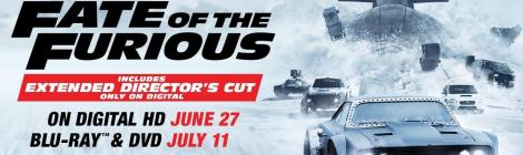 'The Fate Of The Furious'; Arrives On Digital HD June 27 & On 4K Ultra HD, Blu-ray & DVD July 11, 2017 From Universal 8