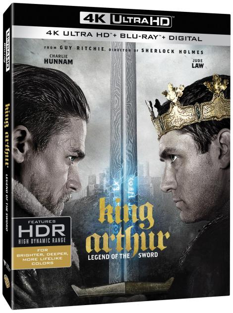 'King Arthur: Legend Of The Sword'; Arrives On Digital July 25 & On 4K Ultra HD, Blu-ray 3D, Blu-ray & DVD August 8, 2017 From Warner Bros 3