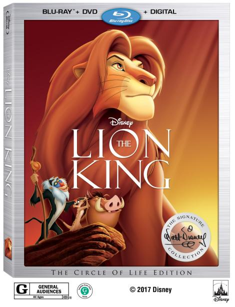 Disney's 'The Lion King'; Joining The Signature Collection On Digital August 15 & On Blu-ray August 29, 2017 From Disney 3