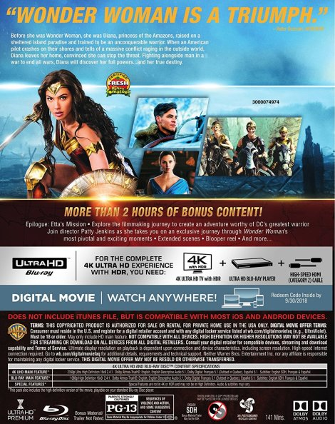 'Wonder Woman'; Arrives On Digital August 29 & On 4K Ultra HD, 3D Blu-ray, Blu-ray & DVD September 19, 2017 From DC & Warner Bros 5