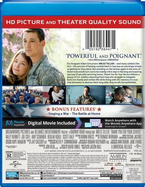 'Thank You For Your Service'; Arrives On Digital January 9 & On Blu-ray & DVD January 23, 2018 From Universal 6