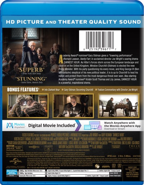 'Darkest Hour'; The Oscar-Nominated Film Arrives On Digital February 6 & On Blu-ray & DVD February 27, 2018 From Universal 6