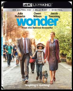 'Wonder'; Arrives On Digital January 30 & On 4K Ultra HD, Blu-ray & DVD February 13, 2018 From Lionsgate 1