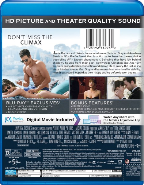 'Fifty Shades Freed' Unrated; Arrives On Digital April 24 & On 4K Ultra HD, Blu-ray & DVD May 8, 2018 From Universral 9