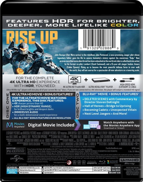 'Pacific Rim: Uprising'; Arrives On Digital June 5 & On 4K Ultra HD, 3D Blu-ray, Blu-ray & DVD June 19, 2018 From Universal 4