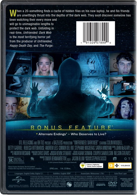 'Unfriended: Dark Web'; Arrives On Digital October 2 & On Blu-ray & DVD October 16, 2018 From Universal 8