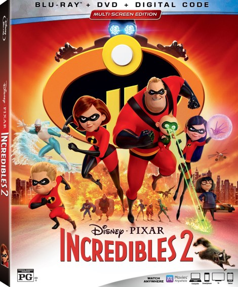 Disney•Pixar's 'Incredibles 2'; Arrives On Digital October 23 & On 4K Ultra HD, Blu-ray & DVD November 6, 2018 From Disney•Pixar 4