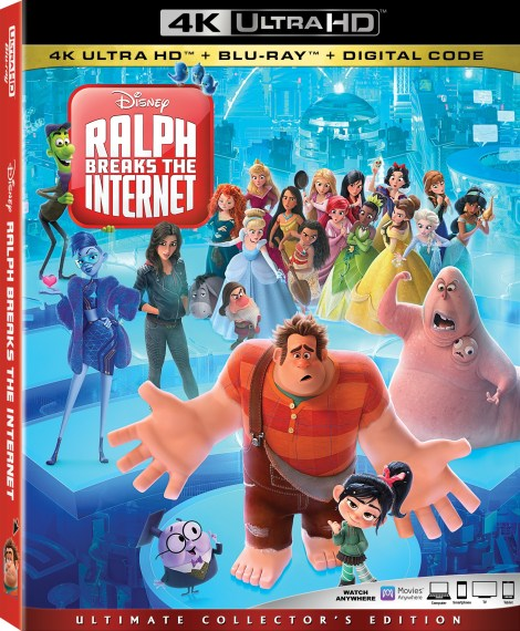Disney's 'Ralph Breaks The Internet'; The Sequel To 'Wreck It Ralph' Arrives On Digital February 12 & On 4K Ultra HD, Blu-ray & DVD February 26, 2019 From Disney 9