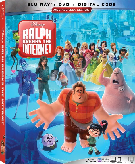 Disney's 'Ralph Breaks The Internet'; The Sequel To 'Wreck It Ralph' Arrives On Digital February 12 & On 4K Ultra HD, Blu-ray & DVD February 26, 2019 From Disney 4