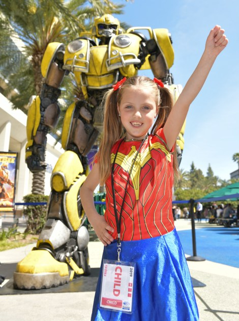 Check Out Photos From Bumblebee's Arrival At WonderCon Anaheim On Friday To Celebrate The Film's Home Entertainment Debut 8