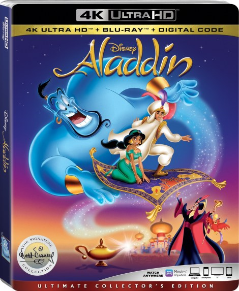 Disney's 'Aladdin'; The Animated Classic Joins The Walt Disney Signature Collection On Digital August 27 & On 4K Ultra HD & Blu-ray September 10, 2019 From Disney 3