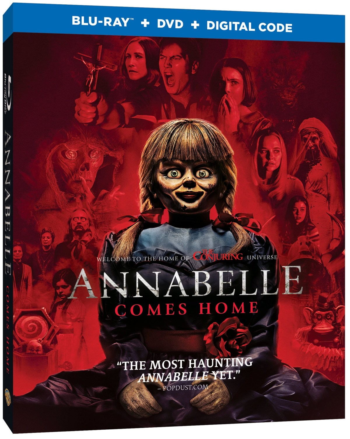 Blu ray artwork for ANNABELLE COMES HOME