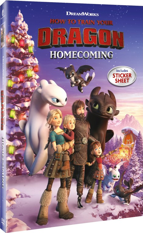 How To Train Your Dragon Homecoming; DVD Artwork & Disc Specs; Arriving On DVD & Airing On NBC December 3; On Digital December 4, 2019 From Universal 3
