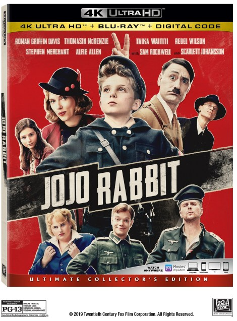 Jojo Rabbit; The Academy Award Nominated Film Arrives On Digital February 4 & On 4K Ultra HD, Blu-ray & DVD February 18, 2020 From Fox 2