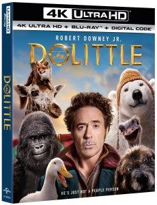 Dolittle; Arrives On Digital March 24 & On 4K Ultra HD, Blu-ray & DVD April 7, 2020 From Universal 1