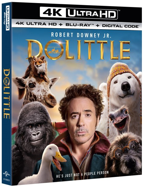 Dolittle; Arrives On Digital March 24 & On 4K Ultra HD, Blu-ray & DVD April 7, 2020 From Universal 3