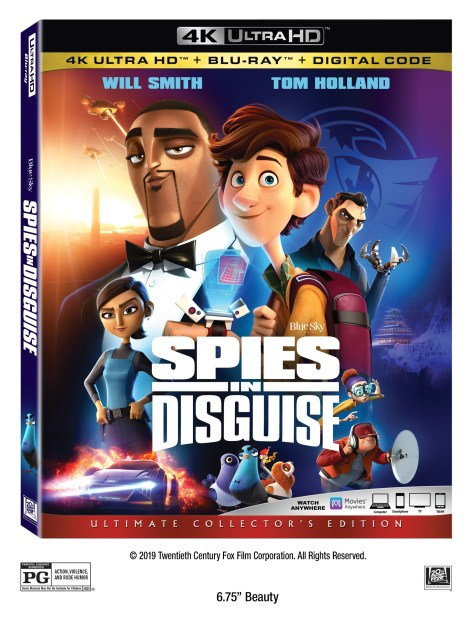 Spies In Disguise; Arrives On 4K Ultra HD, Blu-ray, DVD & Digital March 10, 2020 From Fox 3