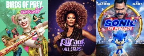 DEG Watched At Home Top 20 List 06/11/20 RuPaul's Drag Race All Stars Season 5, Sonic The Hedgehog image