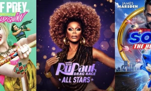 DEG Watched At Home Top 20 List 06/11/20 RuPaul's Drag Race All Stars Season 5, Sonic The Hedgehog image