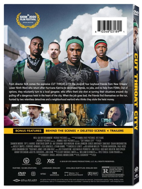 'Cut Throat City'; The RZA Directed Crime Drama Arrives On Digital October 6 & On Blu-ray & DVD October 20, 2020 From Well Go USA 4