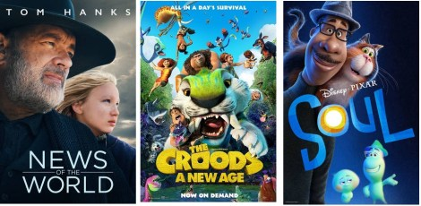 DEG Watched At Home Top 20 List For 04/01/21: News Of The World, The Croods: A New Age 1