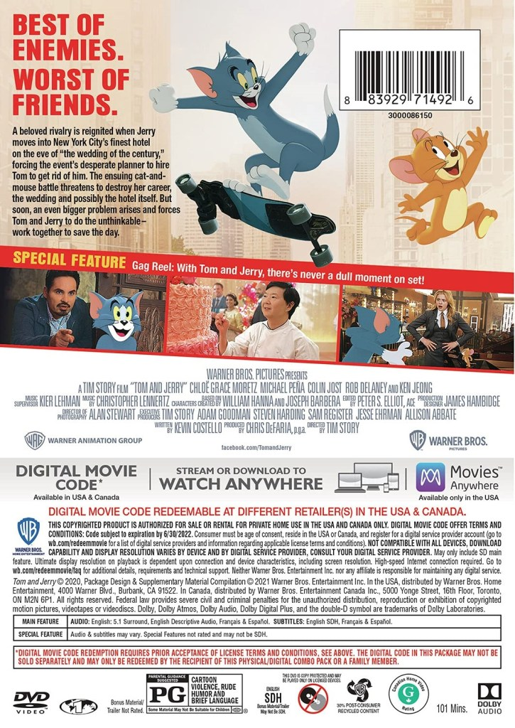 'Tom & Jerry'; The New Movie Arrives On Blu-ray, DVD ...