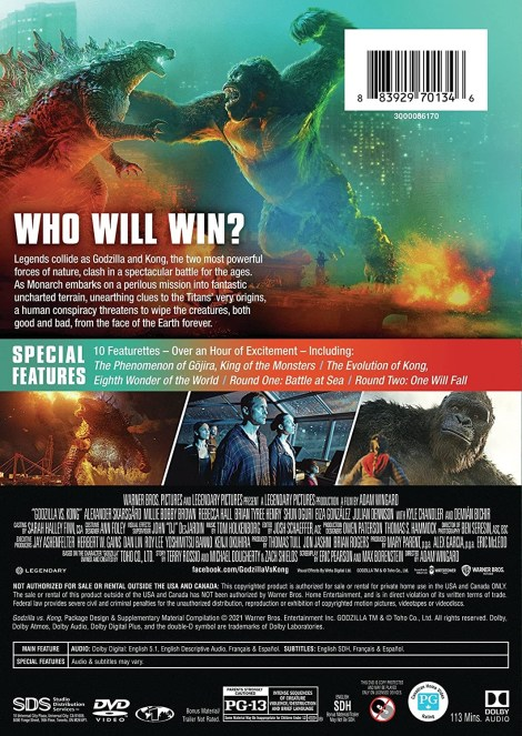 'Godzilla vs. Kong'; Own It On Digital May 21 & On 4K Ultra HD, Blu-ray & DVD June 15, 2021 From Warner Bros 12