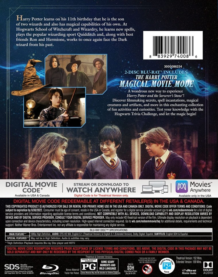 'Harry Potter And The Sorcerer's Stone' Magical Movie Mode; Arrives On Blu-ray, DVD & Digital August 17, 2021 From Warner Bros 4
