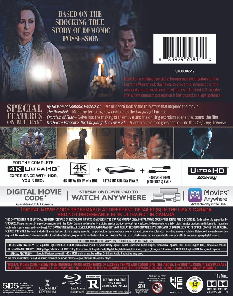 'The Conjuring: The Devil Made Me Do It'; Arrives On Digital July 23 & On 4K Ultra HD, Blu-ray & DVD August 24, 2021 From Warner Bros 6