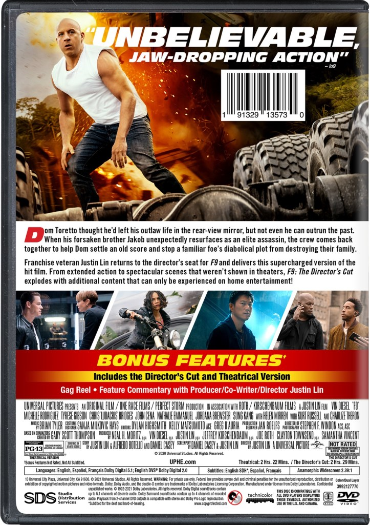 'F9: The Fast Saga' The Director's Cut; Arrives On Digital September 7 & On 4K Ultra HD, Blu-ray & DVD September 21, 2021 From Universal 16