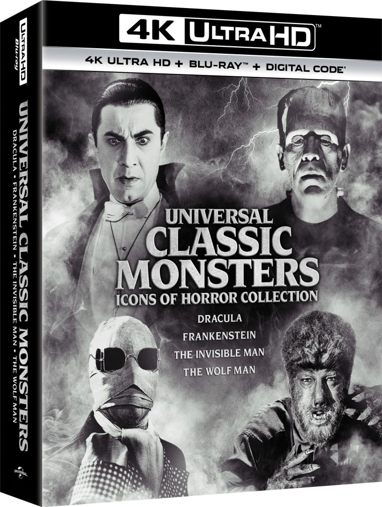 'Universal Classic Monsters - Icons Of Horror Collection'; Arrives On 4K Ultra HD October 5, 2021 From Universal 4