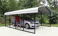 pc1020 wall attached steel carport