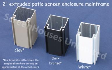 aluminum porch screening frame details