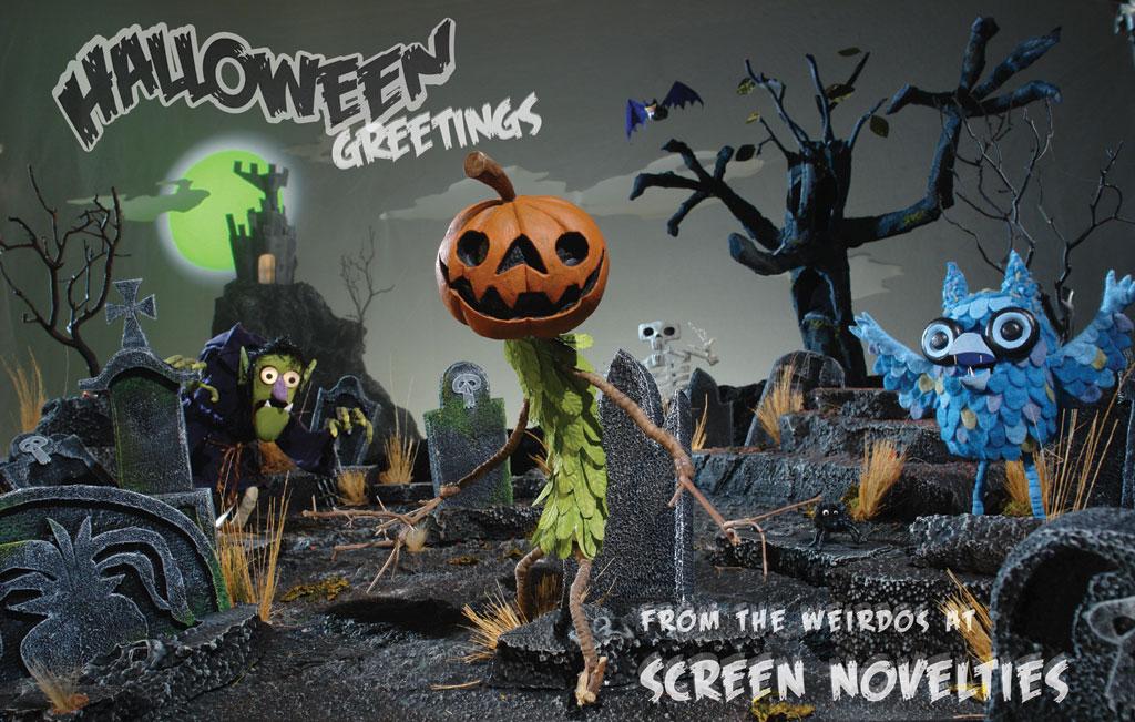 Halloween Greetings Screen Novelties
