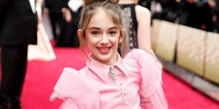 Julia Butters arrives at the Oscars on Sunday, Feb. 9, 2020, at the Dolby Theatre in Los Angeles. (AP Photo/John Locher)