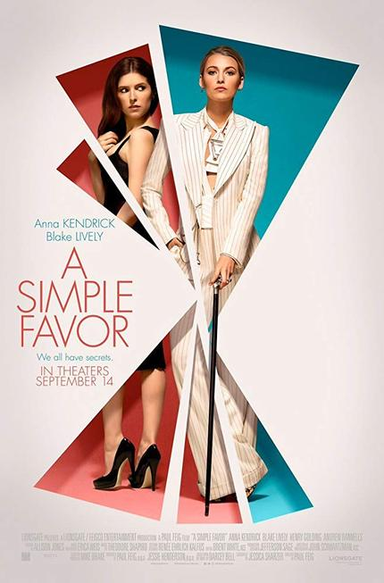 Review: A SIMPLE FAVOR, Not So Simple, But Satisfying
