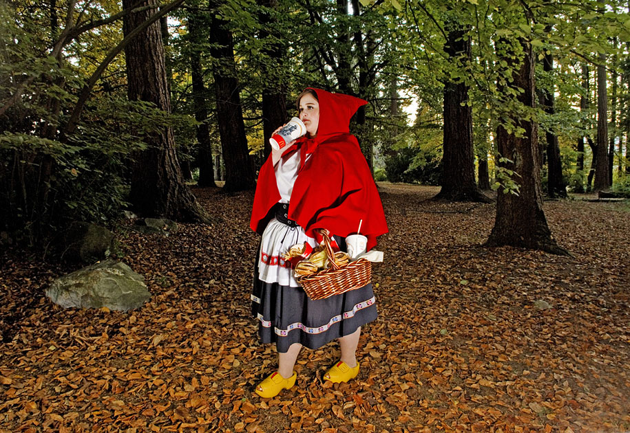 Little Red Riding Hood by Dina Goldstein (on Demilked)