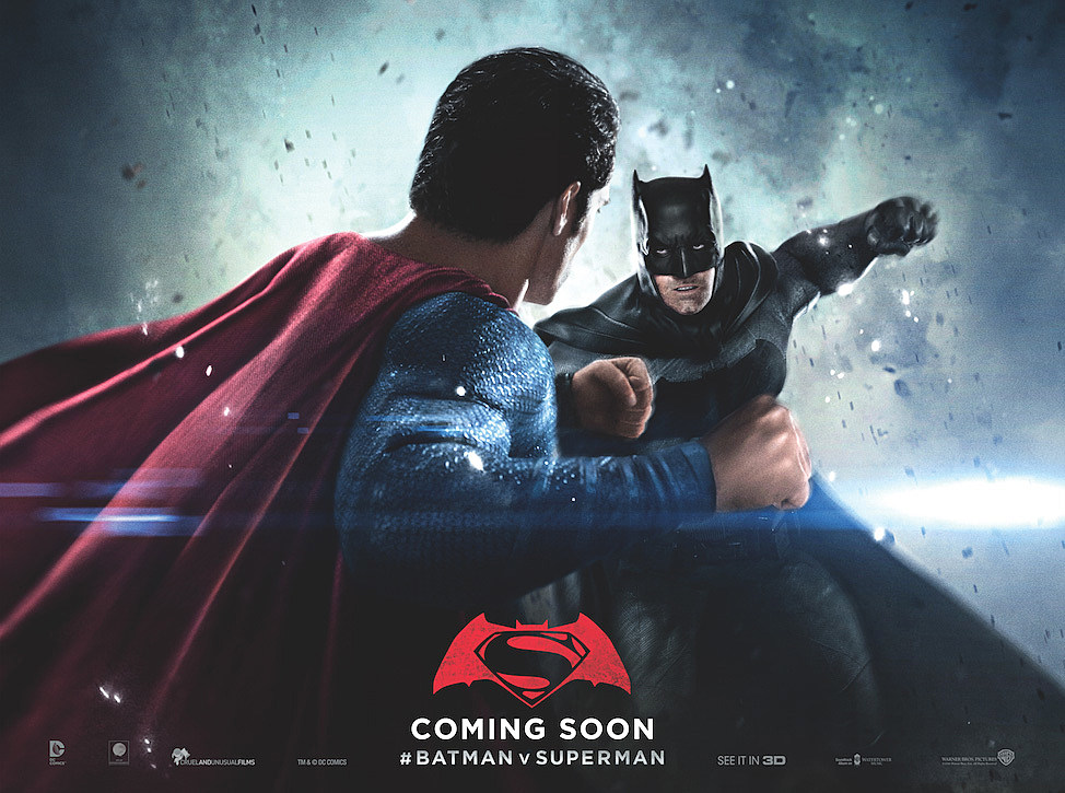 Image result for batman v superman poster