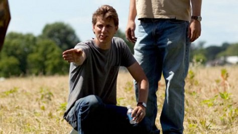 Jeff Nichols directs his actors on the set of Midnight Special