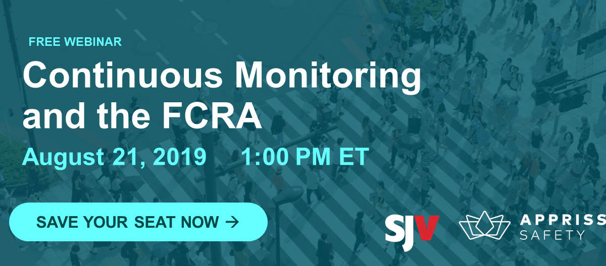 Upcoming Webinar: Continuous Monitoring and the FCRA