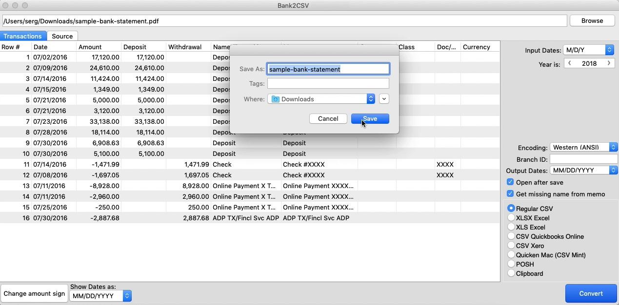 Bank2CSV 3.5.142 Activation Code+Serial Key Download {Win/Mac }