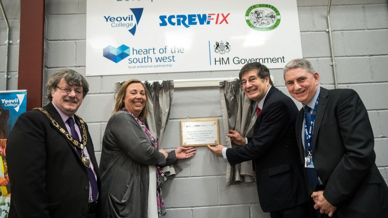 Screwfix partners with Yeovil College to boost construction facilities.