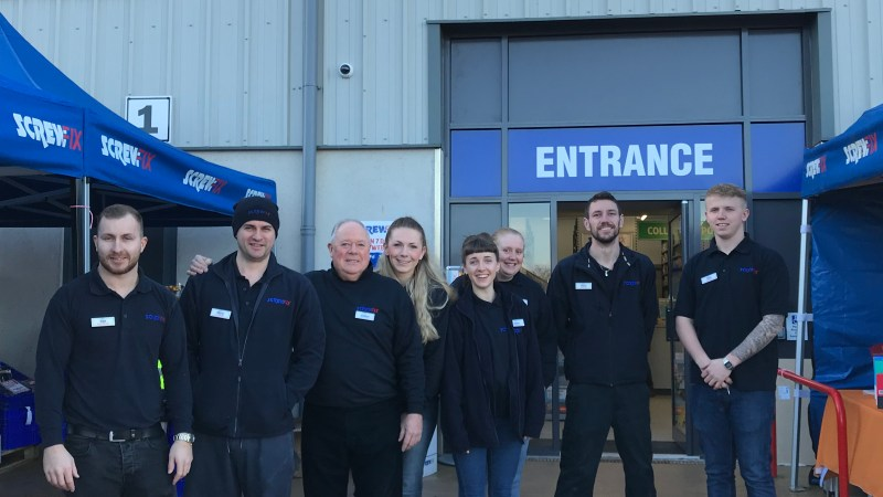 Ilminster Celebrates New Screwfix Store Opening
