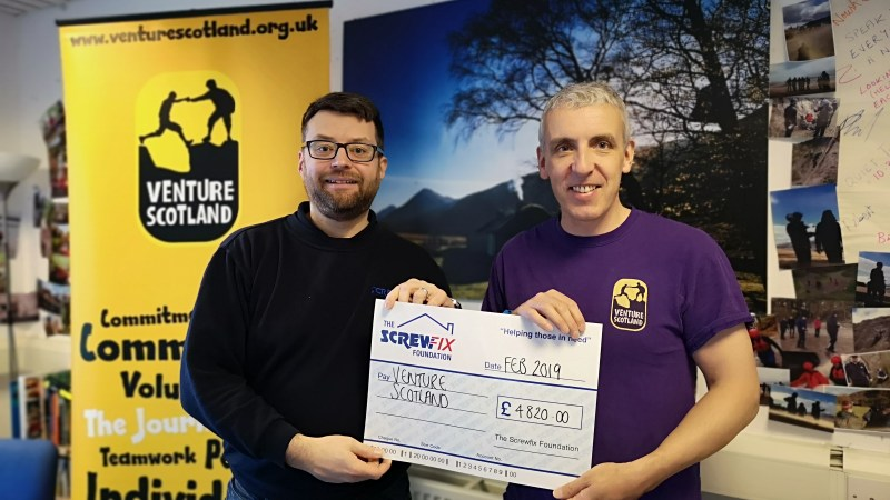 Venture Scotland receive grant from the Screwfix Foundation