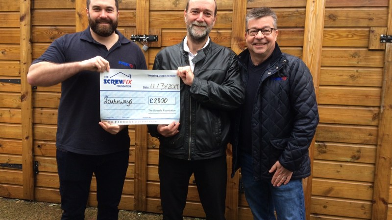 Routeways gets a helping hand from the Screwfix Foundation