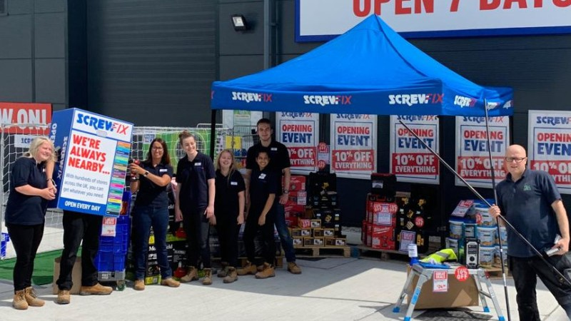 Rochester celebrates new Screwfix store opening